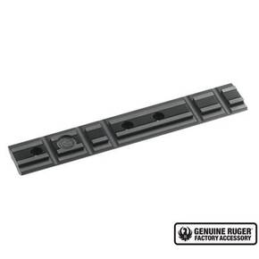 Ruger 1-Piece Weaver-Style Aluminum 22 Target Pistol Scope Base Adapter for Mark IV, Mark III, Mark II & 22/45 .22 - Black Anodized