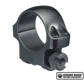 "Ruger Steel Scope Ring - Single (3B) 1"" Low .812"" Height - Blued"