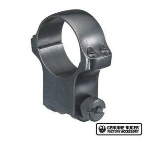 "Ruger Steel Scope Ring - Single (6B30) 30mm Extra High 1.187"" Height- Blued"