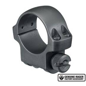 "Ruger Steel Scope Ring - Single (3BHM) 1"" Low .812"" Height - Hawkeye Matte Blued"
