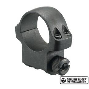 "Ruger Steel Scope Ring - Single (4BHM) 1"" Medium .937"" Height - Hawkeye Matte Blued"