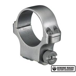"Ruger Steel Scope Ring - Single (4K30) 30mm Medium .937"" Height - Stainless Finish"