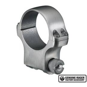 "Ruger Steel Scope Ring - Single (5K30) 30mm High 1.062"" Height - Stainless Finish"