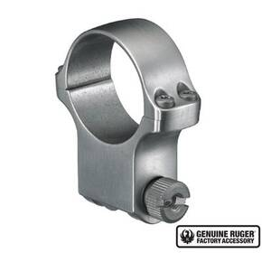 "Ruger Steel Scope Ring - Single (6K30) 30mm Extra High 1.187"" Height - Stainless Finish"