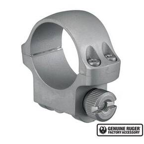 "Ruger Steel Scope Ring - Single (3KHM) 1"" Low .812"" Height - Hawkeye Matte Stainless Finish"