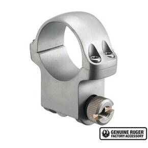 "Ruger Steel Scope Ring - Single (5KHM) 1"" High 1.062"" Height- Hawkeye Matte Stainless Finish"
