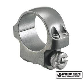 "Ruger Steel Scope Ring - Single (3KTG) 1"" Low .812"" Height - Target Grey Stainless Finish"