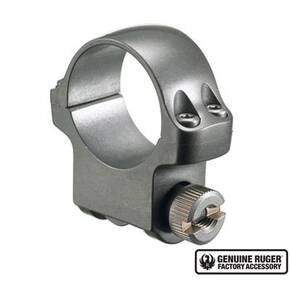 "Ruger Steel Scope Ring - Single (4KTG) 1"" Medium .937"" Height - Target Grey Stainless Finish"