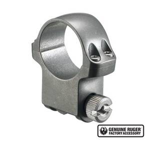 "Ruger Steel Scope Ring - Single (5KTG) 1"" High 1.062"" Height - Target Grey Stainless Finish"