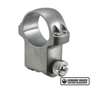 "Ruger Steel Scope Ring - Single (4K30TG) 30mm Extra-High 1.187"" Height- Target Grey Stainless"