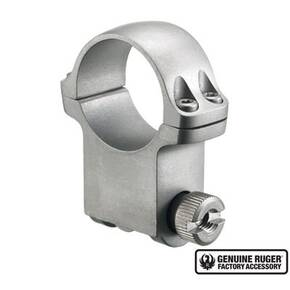 "Ruger Steel Scope Ring - Single (6K30HM) 30mm Extra High 1.187"" Height- Hawkeye Matte Stainless"