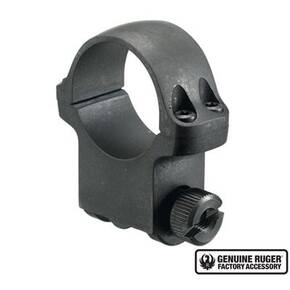 "Ruger Steel Scope Ring - Single (5B30HM) 30mm High 1.062"" Height- Hawkeye Matte Blued"