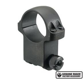 "Ruger Steel Scope Ring - Single (6B30HM) 30mm Extra High 1.187"" Height- Matte Blued"