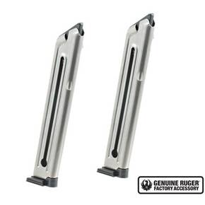 Ruger Handgun Magazine 2 Pack for Mark III & Mark IV .22LR 10rds E-Nickel