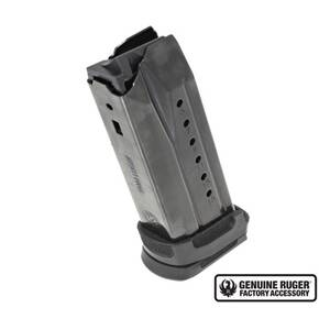 Ruger Security-9 Compact Magazine 9mm Black Oxide Steel with Polymer Adapter 15/rd