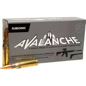 Summit Subsonic Rifle Ammunition .308 Win. 168 gr BTHP  20 ct