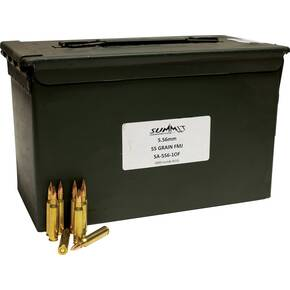 Summit Rifle Ammunition with Once-Fired Brass 5.56mm 55 gr FMJ Remanufactured 1000/Box