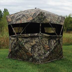 Rhino Blinds R-600 Mossy Oak Break Up Country Blind - 3-Person
