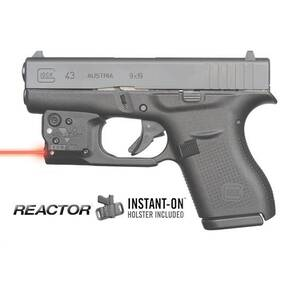 Viridian Reactor 5 Red Laser Sight for Glock 43 with ECR & Hybrid Belt Holster