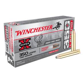 "Winchester Rifle Bullets .350 Legend .357"" 180gr PP 100/Box"