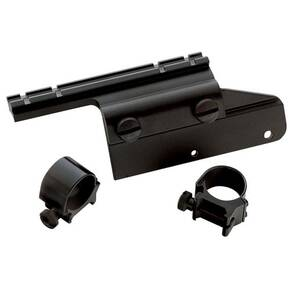 "Weaver No-Drill/Tap Side Aluminum Alloy Shotgun Converta-Mount (Bracket, Scope Base, 1"" Low Scope Rings) Mossberg 500 & 835 - Black"