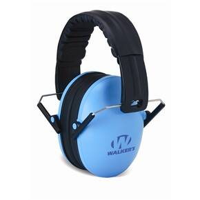 Walker's Game Kids Folding Passive Ear Muffs-Blue