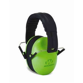 Walker's Game Kids Folding Passive Ear Muffs-Lime Green