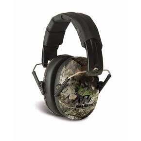 Walker's Pro Low Profile Folding Passive Earmuff- Mossy Oak