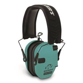 Walker's Razor Slim Shooter Folding Electronic Muff-Teal