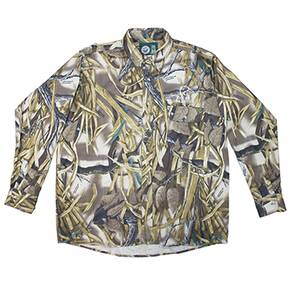 Whitewater Men's Classic Twill Shirt - Wetlands Camo Medium