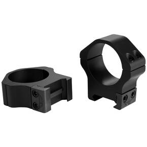Warne 2-Piece Maxima Horizontal Fixed Scope Rings 30mm PA Low - Matte Black