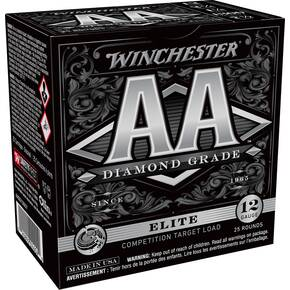 "Winchester AA Diamond Grade Shotshells 12 ga 2-3/4"" 1-1/8oz  1250 fps #7.5 25/ct"