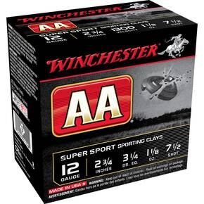 "Winchester AA Super Sport 12 ga 2 3/4""  1-1/8 oz #7.5 1300 fps - 25/ct"