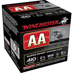 "Winchester AA Super Sport .410 ga 2 1/2""  1/2 oz 1300 fps #8.5 25/ct"