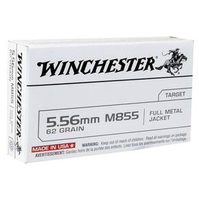 Winchester USA Rifle Ammunition 5.56mm Green Tip 62 gr FMJ 20/Box