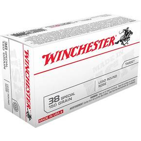 Winchester USA Handgun Ammunition .38 Spl 150 gr LRN  50/box