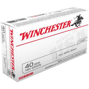 Winchester USA Handgun Ammunition .40 S&W 180 gr FMJ 1020 fps 500/case