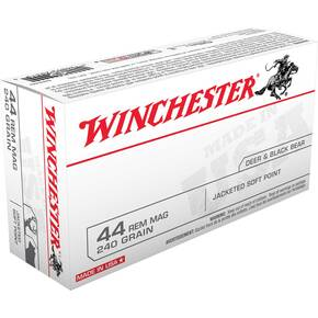 Winchester USA Handgun Ammunition .44 Mag 240 gr JSP  50/box
