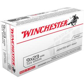 Winchester USA Handgun Ammunition 9x23 Win 123 gr JSP  50/box