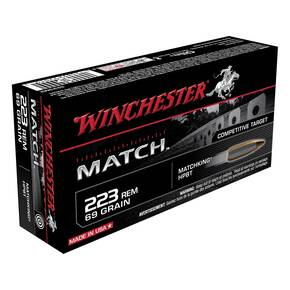 Winchester Match Rifle Ammunition .223 Rem 69 gr BTHP 20/Box