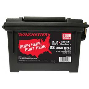 Winchester M-22 Rimfire Rifle Ammunition .22 LR 40 gr CPRN 1255 fps 2000/Box