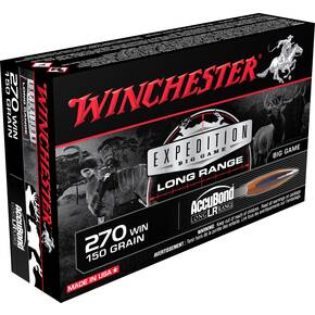 Winchester Expedition Big Game Long Range Rifle Ammunition .270 Win 150 gr AB 2900 fps 20 rds