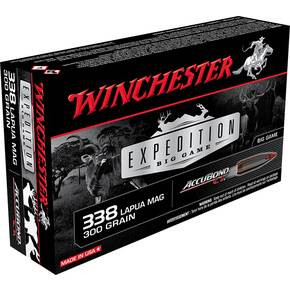 Winchester Expedition Big Game Rifle Ammunition .338 Lapua Mag 300 gr AB 2650 fps 20/ct