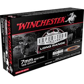 Winchester Expedition Big Game Long Range Rifle Ammunition 7MM Rem Mag 168gr AB 2900 fps 20/ct