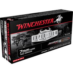 Winchester Expedition Big Game Rifle Ammunition 7mm WSM 160 gr AB 3050 fps 20/ct