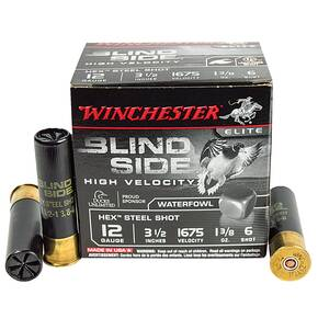 "Winchester Blind Side 12 ga 3-1/2"" 1-1/8 oz #6 25/Box"