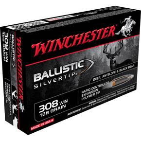 Winchester Ballistic Silvertip Rifle Ammunition .308 Win 168 gr BST 2670 fps - 20/box