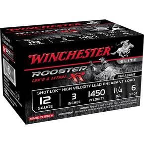 "Winchester Rooster XR Shotshells 12ga 3"" #6 Shot-Lok w/plated lead shot 15rd"