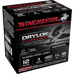 "Winchester Supreme High Velocity Drylok Super Steel Waterfowl Load 12 ga 3-1/2"" 1-1/2 oz #BB 25/Box"