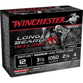 "Winchester Long Beard XR Shotshells 12ga 3 1/2"" #4 2 1/8oz 10rd"